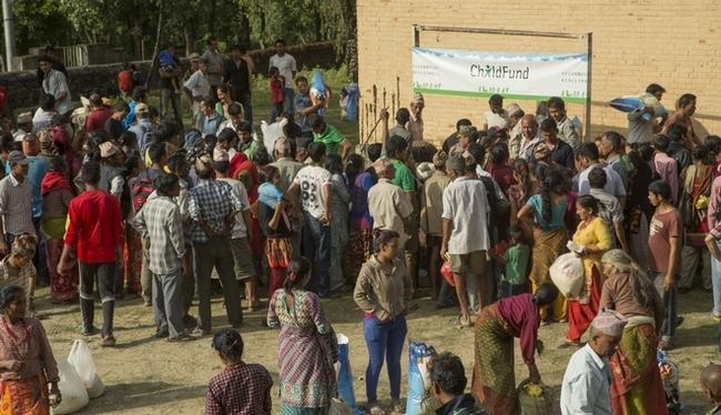 緊急支援物資の配布の様子